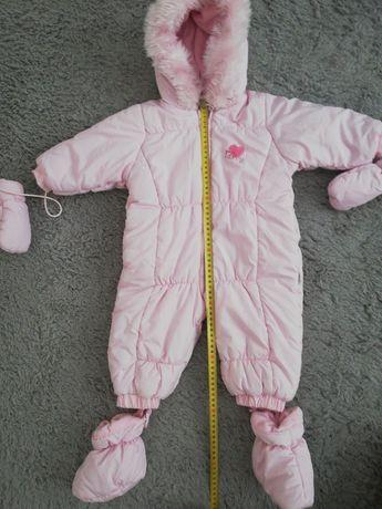 Kombinezon zimowy 74cm z rękawiczkami i bucikami