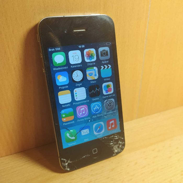 Apple iPhone 4 16GB *Sprawny, bez blokad* Czarny Nowe Miasteczko - image 1