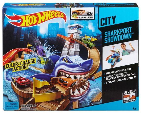 Трек Hot Wheels Охота на акулу серии Измени цвет, Хот вилс Sharkport B