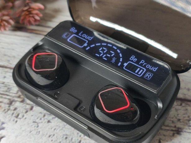 Беспроводные блютуз наушники True Wireless M10 B Black лучше F9