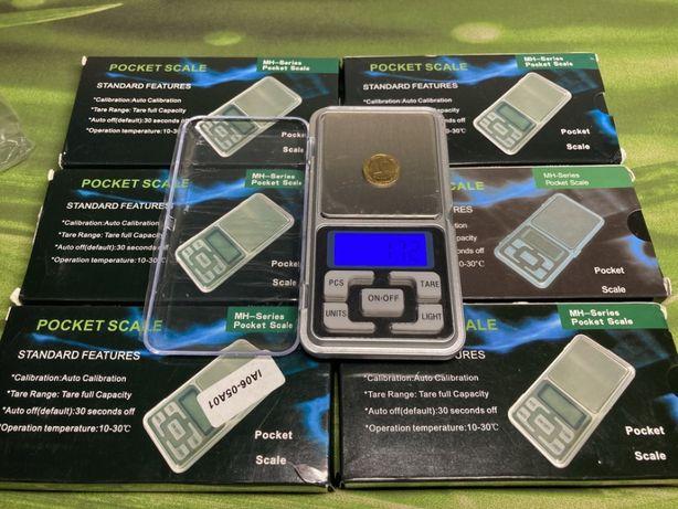 Карманные компактные ювелирные весы до 200 грамм; шаг шкалы - 0.01 г
