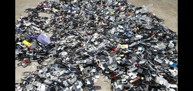 Остатки мобильных телефонов платы контакты позолота разъём лом кг штук