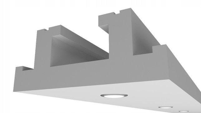 Sufit podwieszany - Gzyms Oświetleniowy Punktowy/Halogenowy H2 6/20