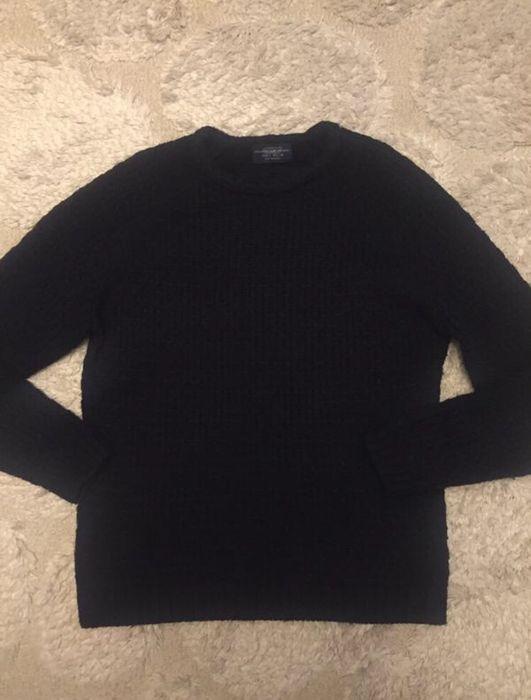 Pull&Bear свитер мужской крупной вязки черный размер L XL. Киев - изображение 1