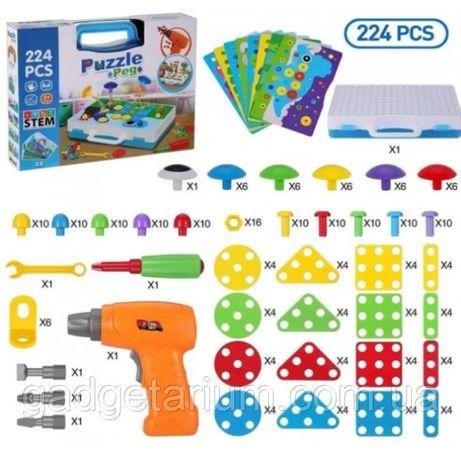 """Конструктор Tu Le """"Puzzle Peg"""" чемодан (224 детали) TLH-29"""