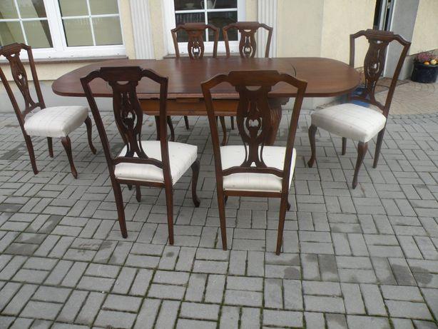 Stół i 6 krzeseł w Stylu Ludwika
