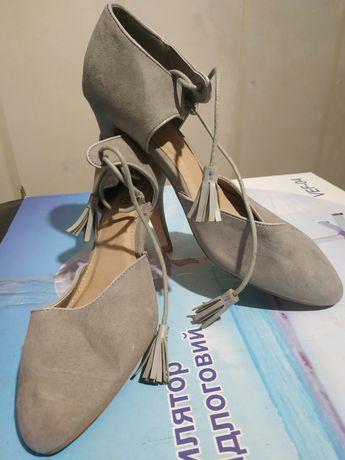 Туфли босоножки женские замшевые