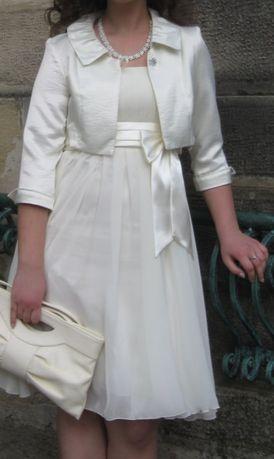Святкова сукня, плаття на випускний айворі