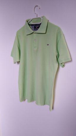 Koszulka Tommy Hilfiger rozm XL pastelowa zieleń