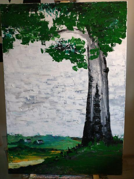 Obraz ręcznie malowany farbami olejnymi 100x70