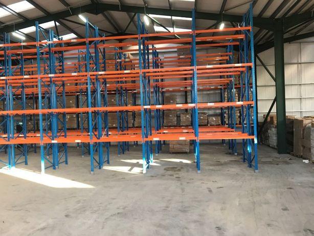 Regaly paletowe magazynowe wys skladowania mocne 520x110 cm FIRMY STOW