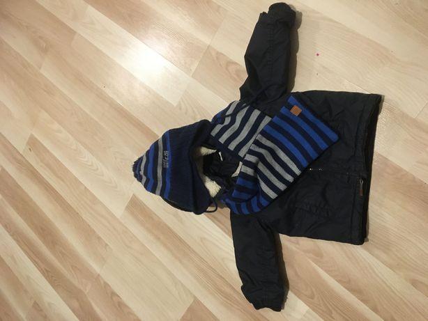 Kurtka kurteczka zimowa hm h&m 86 czapka szalik  reserved komplet