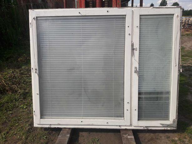 Okna drewniane z futryną różne wymiary 2szt.