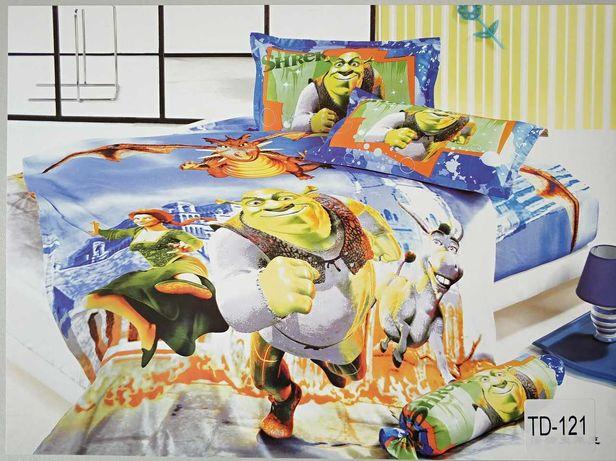 Детское сатиновое постельное белье 3D - 10%