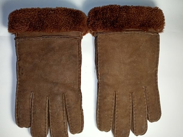 Перчатки мужские меховые замшевые