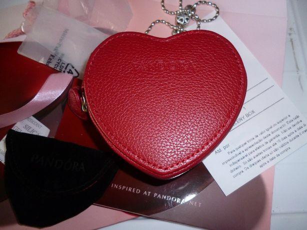 Pandora caixa ou estojo coração vermelho