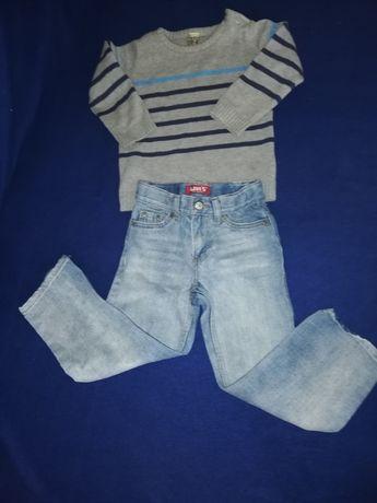 Spodnie dla 3latka levis +sweterek