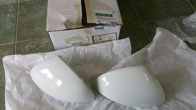 osłony lusterek Skoda Yeti FL, kpl kolor biały