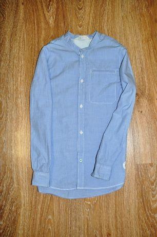 Отличная голубая рубашка h&m