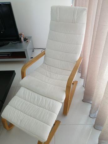 Cadeira Poltrona mais apoio para pés, IKEA. Preço em novo 109€