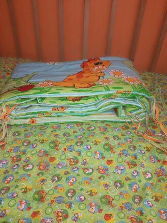 Бортик в кроватку трехметровый