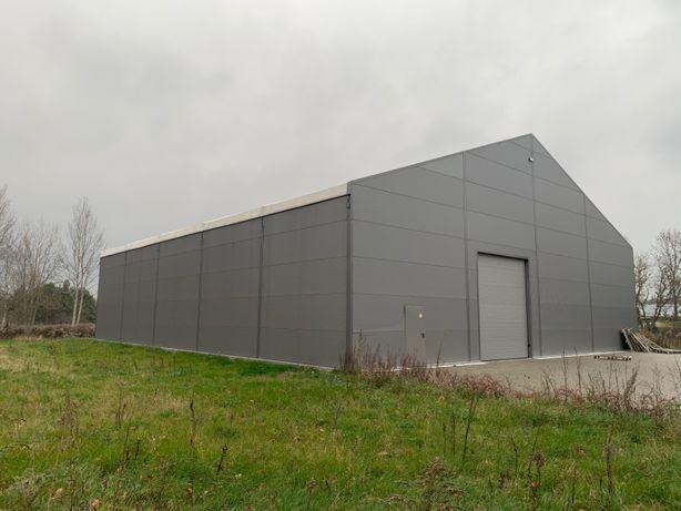 Hala magazynowa stalowa namiotowa 550m2 22x25x5,8m Ściany płyta 6cm