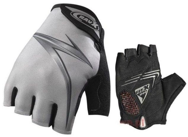 Rękawiczki rowerowe XXL żelowe krótkie rękawice na rower szare srebrne