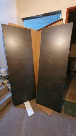 Blaty ikea knoxhult czarne 2x180 i 2x40cm