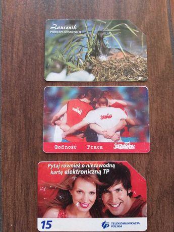 3 karty telefoniczne