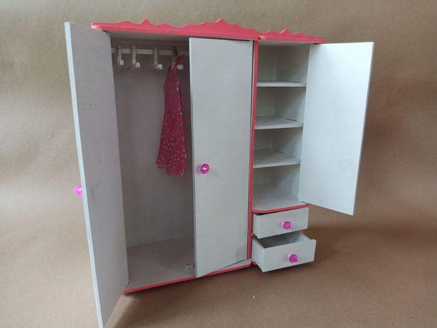 Шкаф для Барби. Кукольная мебель. Розовый Шкаф для кукол