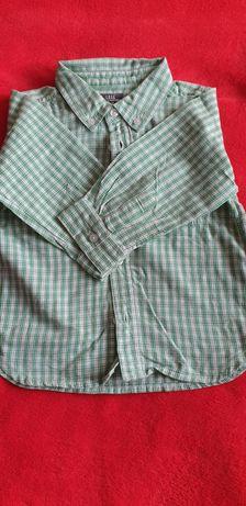 Koszula w zieloną krateczkę na roczek