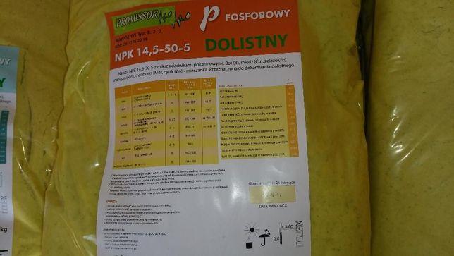 Nawóz dolistny FOSFOROWY- NPK 14,5-50-5 worki 20 kg