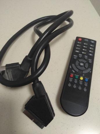 Пульт для тюнера +SCART кабель