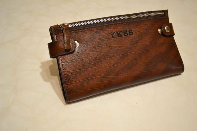 Мужской клатч (кошелёк, портмоне). Натуральная кожа 100%