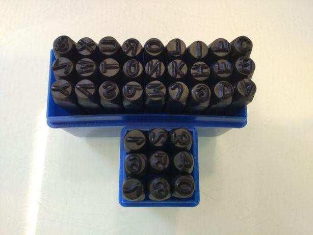 Numeratory, znaczniki 6mm do metalu cyfry i litery zestaw wybijaki