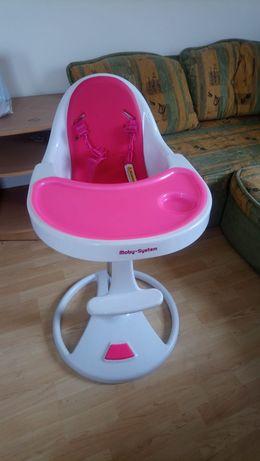 Krzesełko do karmienia różowe