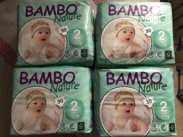 Zestaw 4x Pampersy Bamboo Nature 2 mini 3-6kg Nowe, Zamknięte