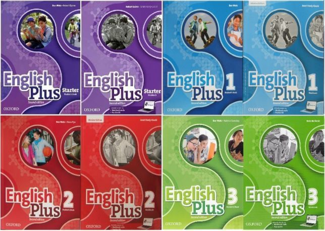 English plus Starter, 1, 2, 3, 4 Student's+workbook 2nd edition