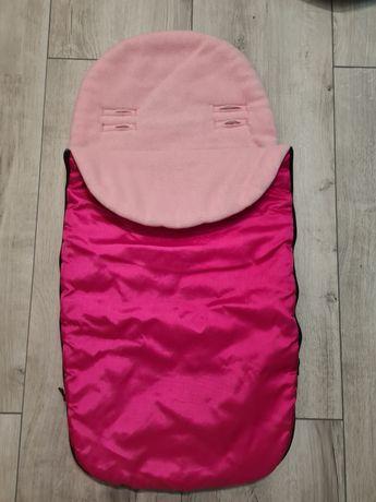 Śpiworek do gondoli różowy, zimowy