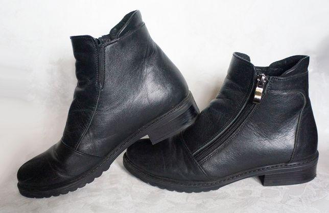 полусапожки ботинки 36-37 р чёрные натуральная кожа