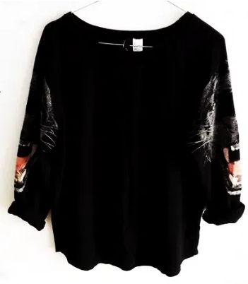 Bluza czarna pantera H&M