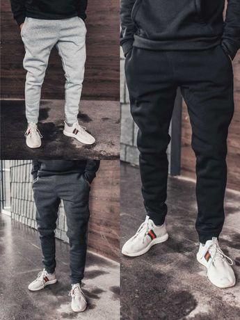 Спортивные мужские штаны зима, плотная трехнитка с начесом