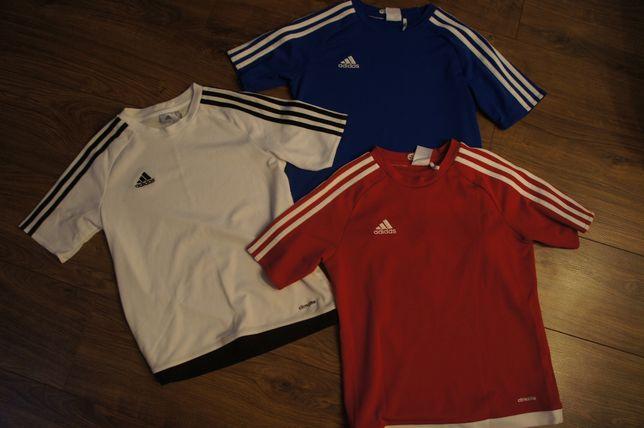 treningowe juniorskie koszulki ADIDAS CLIMALITE 152cm 11-12l 3pak 3szt