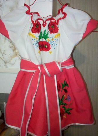 Платье для девочки в украинском стиле