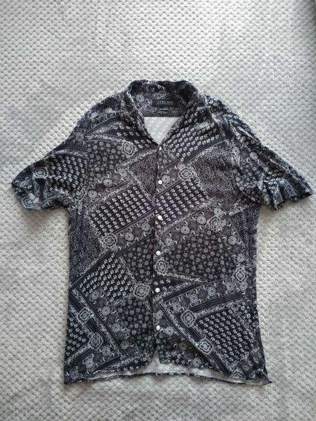 Camisa de manga curta estampada - homem