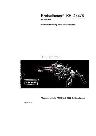 Katalog części przetrząsacz DEUTZ FAHR KH 2/4/6