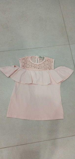 Блуза футболка цвет пудра Размер 116-122. Zara mayoral