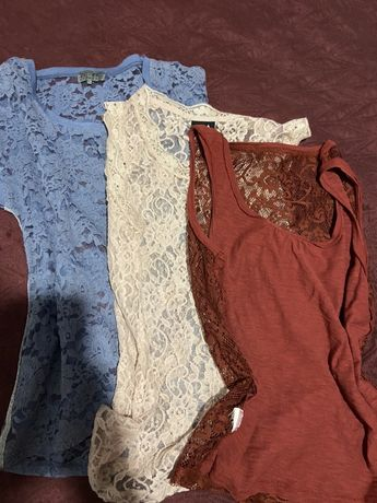 Женские ажурные футболки