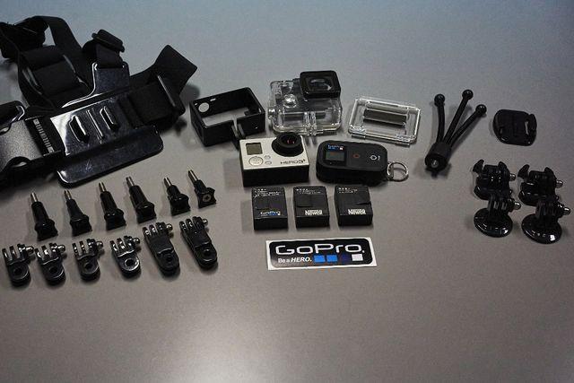 GoPro Hero 3+ Black Edition + akcesoria ze zdjęcia (duży zestaw)