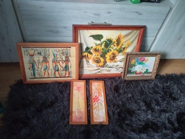 obrazy pięć sztuk